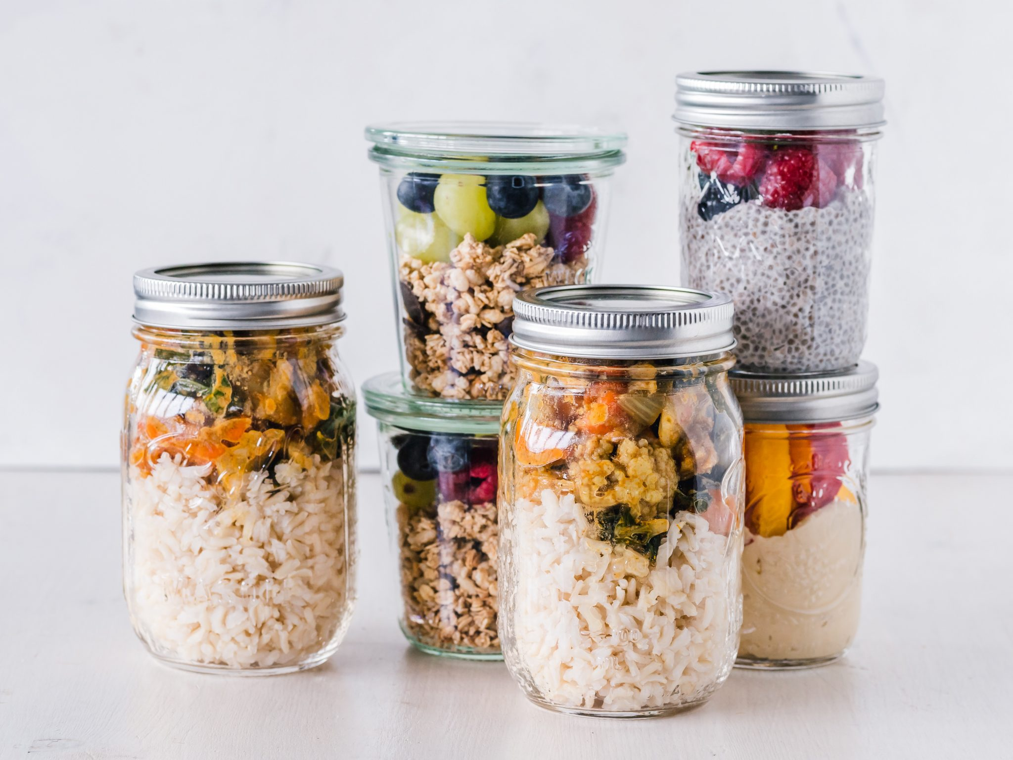Jars of prepared food