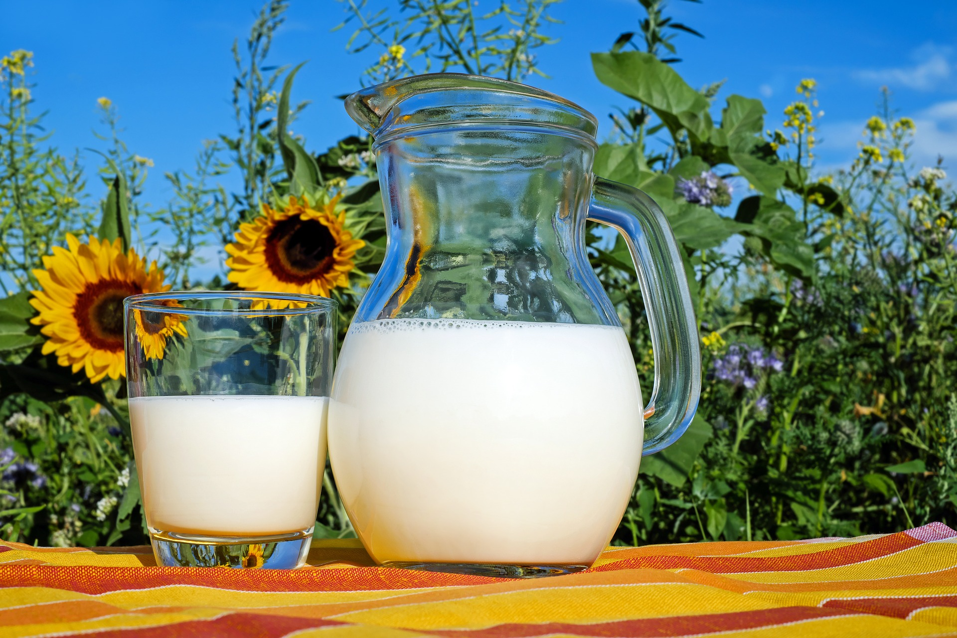 Milk Pitcher and Glass